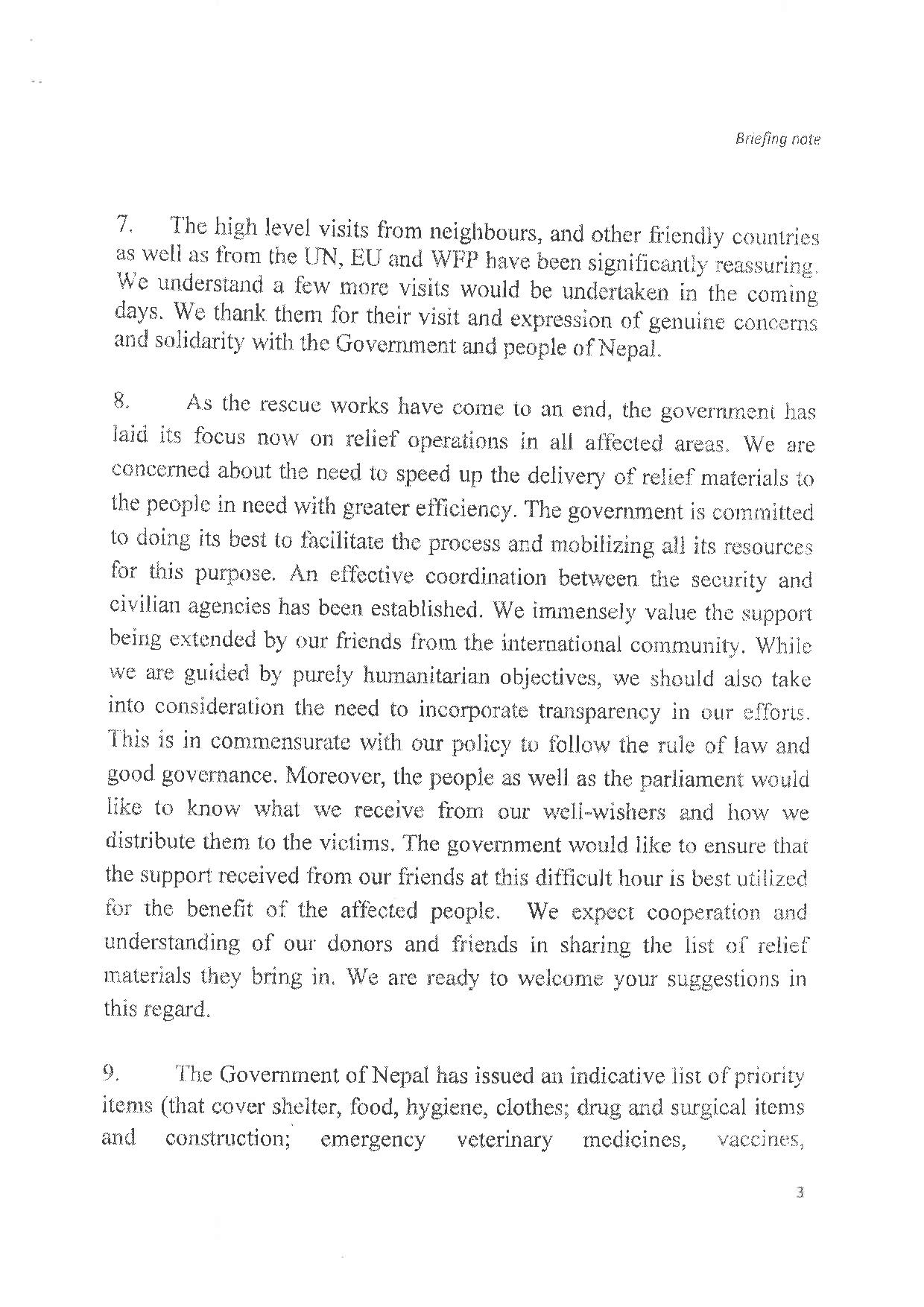 Briefing note ministry of foreign affairs nepal embassy of nepal briefing note ministry of foreign affairs nepal falaconquin